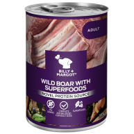 Billy & Margot Wild Boar with Superfoods Wet Adult Dog Food Tins