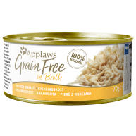 Applaws Chicken Breast in Broth Grain Free Wet Adult Cat Food 70g x 24