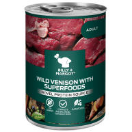 Billy & Margot Venison with Superfoods Wet Adult Dog Food Tins