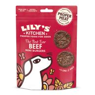 Lilys Kitchen Best Ever Beef Mini Burger Dog Treats 70g