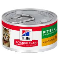 Hills Science Plan Chicken Kitten Food Cans