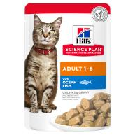 Hills Science Plan Adult Ocean Fish Pouches Wet Cat Food 85g x 12