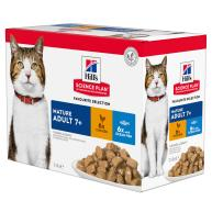Hills Science Plan Mature 7+ Pouches Wet Cat Food Chicken & Ocean Fish Multipack 85g x 72