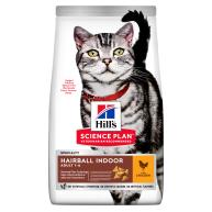 Hills Science Plan Adult Hairball & Indoor Dry Cat Food Chicken 1.5kg