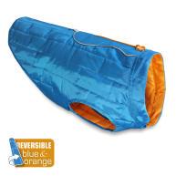 Kurgo Reversible Loft Dog Coat in Orange & Blue