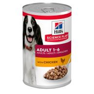 Hills Science Plan Canine Wet Adult Chicken Dog Food 370g x 12