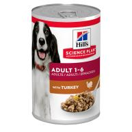 Hills Science Plan Canine Wet Adult Turkey Dog Food 370g x 12