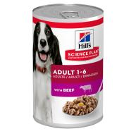 Hills Science Plan Canine Wet Adult Beef Dog Food 370g x 12