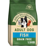 James Wellbeloved Grain Free Fish & Vegetables Adult Dog Food 1.5kg