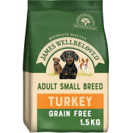 James Wellbeloved Grain Free Turkey & Vegetable Small Breed Adult Dog Food 1.5kg