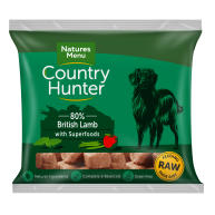 Natures Menu Country Hunter Complete Lamb Nuggets Raw Frozen Dog Food 1kg