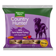 Natures Menu Country Hunter Complete Turkey Nuggets Raw Frozen Dog Food