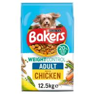 Bakers Weight Control Chicken Dry Adult Dog Food 12.5kg