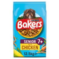 Bakers Chicken & Vegetable Dry Senior Dog Food 12.5kg