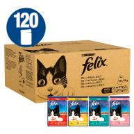 Felix Original 1+ Mixed Selection In Jelly Cat Food 100g x 120