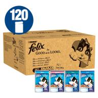 Felix As Good As It 1+ Looks Ocean Selection Cat Food 100g x 120