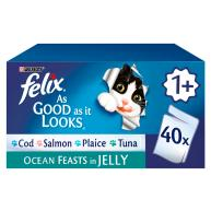Felix As Good As It Looks Ocean Feasts Cat Food 100g x 40