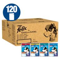Felix As Good As It Looks 1+ Mixed Selection Cat Food 100g x 120