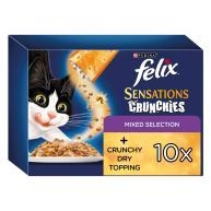 Felix Sensations Mixed Selection Crunchies Adult Cat Food
