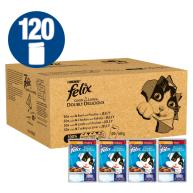 Felix As Good As It Looks 1+ Doubly Delicious Meaty Selection Cat Food 100g x 120