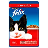 Felix Beef in Jelly Pouch Cat Food