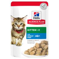 Hills Science Plan Kitten Ocean Fish Pouches Wet Cat Food