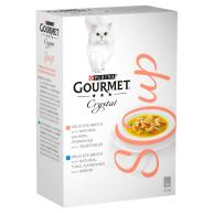 Gourmet Crystal Soup Fish Multipack Adult Cat Food 40g x 4