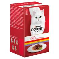 Gourmet Mon Petit Meat Pouches Adult Cat Food 50g x 48