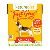 Naturediet Feel Good Chicken Wet Adult Dog Food Cartons 390g x 72 Feel Good