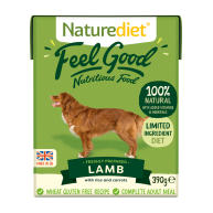 Naturediet Feel Good Lamb Wet Adult Dog Food Cartons 390g x 72 Feel Good