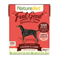 Naturediet Feel Good Chicken & Lamb Wet Adult Dog Food Cartons 390g x 72 Feel Good
