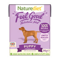 Naturediet Feel Good Chicken & Lamb Puppy Wet Dog Food Cartons 390g x 72 Feel Good