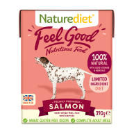 Naturediet Feel Good Salmon Adult Wet Dog Food Cartons 390g x 72 Feel Good
