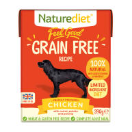 Naturediet Feel Good Grain Free Chicken Wet Adult Dog Food Cartons 390g x 18