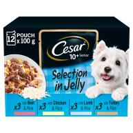 Cesar Deliciously Fresh Mixed Selection in Sauce Wet Senior Dog Food