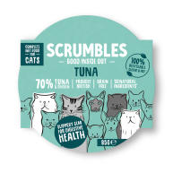 Scrumbles Grain Free Tuna Wet Adult Cat Food 85g x 8