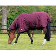 JHL Essential Full Neck Turnout Rug in Burgundy