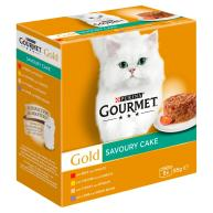 Gourmet Gold Meat & Vegetables Savoury Cake Adult Cat Food 85g x 8