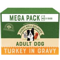James Wellbeloved Turkey & Rice Adult Dog Pouches 150g x 40 MEGA PACK