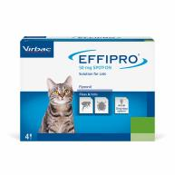 Virbac Effipro Spot On Flea Treatment Cat 4 pipettes