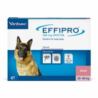 Virbac Effipro Spot On Flea & Tick Treatment Dog Large Dog 20-40kg (4 pipettes)