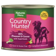 Natures Menu Country Hunter Pheasant & Goose Adult Dog Food Cans 600g x 6