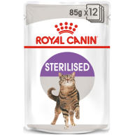 Royal Canin Sterilised Adult In Gravy Wet Cat Food Pouches 85g x 12