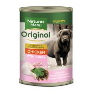 Natures Menu Junior Chicken & Turkey Puppy Food Cans