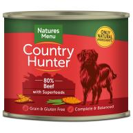 Natures Menu Country Hunter Beef Adult Dog Food Cans 600g x 6