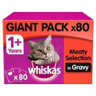 Whiskas 1+ Meat Selection in Gravy Wet Cat Food Pouches