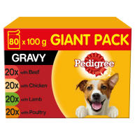 Pedigree Mixed Selection in Gravy Wet Adult 1+ Dog Food Pouches