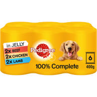 Pedigree Meaty Meals in Jelly Wet Adult Dog Food Tins