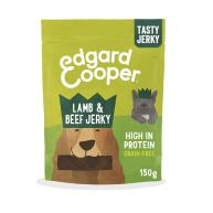 Edgard & Cooper Luscious Lamb and Beef Jerky Dog Treats 150g