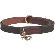 Barbour Wax Leather Dog Lead in Olive